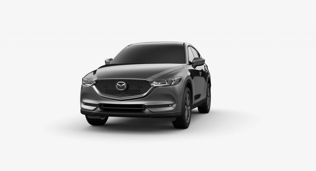 Machine Gray Metallic 2018 Mazda CX-5 Exterior on White Background