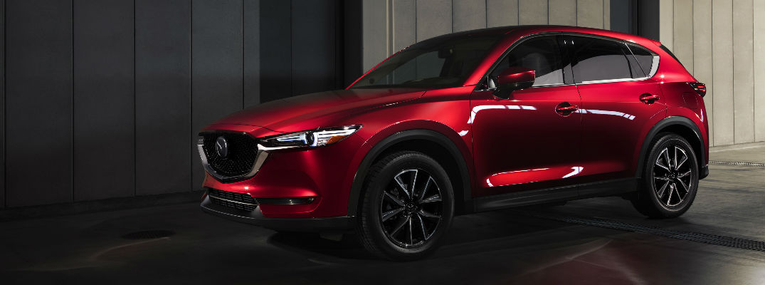 Red 2018 Mazda CX-5 Parked in Driveway