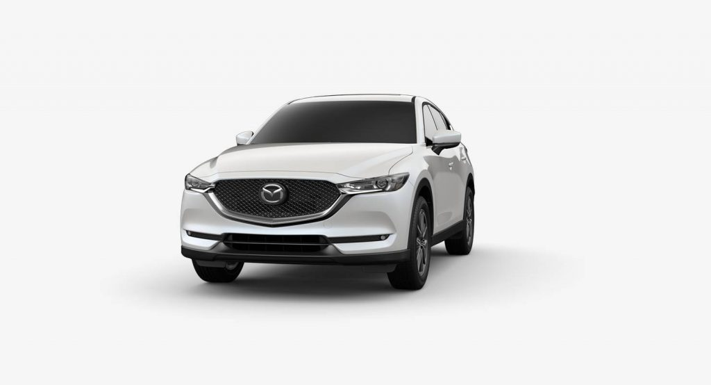 Snowflake White Pearl Mica 2018 Mazda CX-5 Exterior on White Background