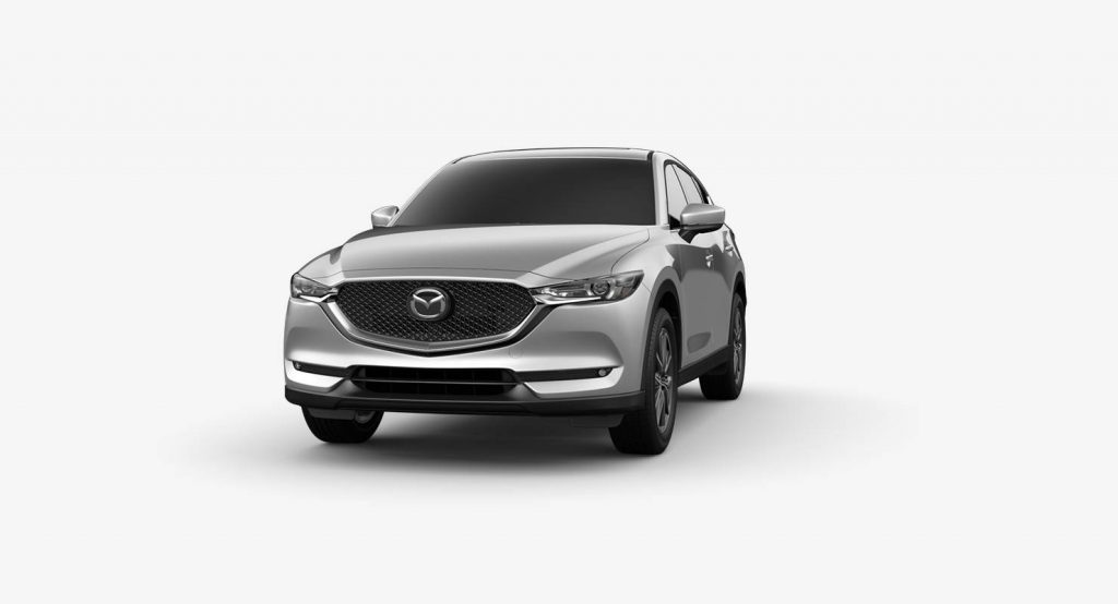 Sonic Silver Metallic 2018 Mazda CX-5 Exterior on White Background