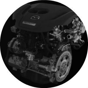 Turbocharged 2.5-Liter 2018 Mazda6 Engine on Black Background