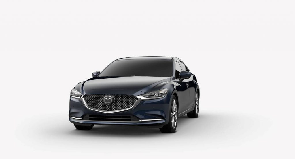 Deep Crystal Blue Mica 2018 Mazda6 Exterior on White Background