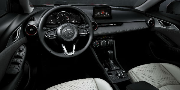 2019 Mazda CX-3 Steering Wheel, Dashboard and MAZDA CONNECT Touchscreen