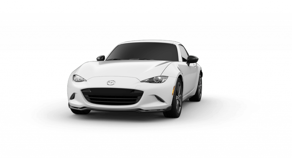 2018 Mazda MX-5 Miata RF Arctic White Exterior on White Background