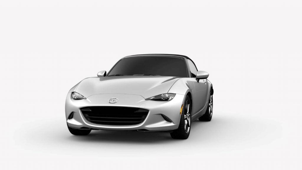 2018 Mazda MX-5 Miata Ceramic Metallic Exterior on White Background