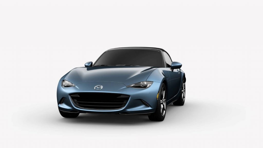 2018 Mazda MX-5 Miata Eternal Blue Mica Exterior on White Background