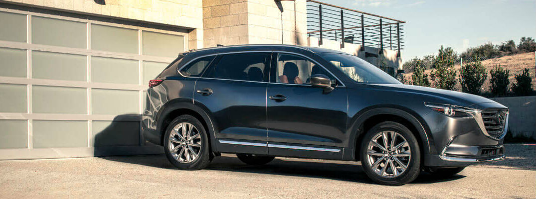 Gray Mazda CX-9 Parked in a Driveway
