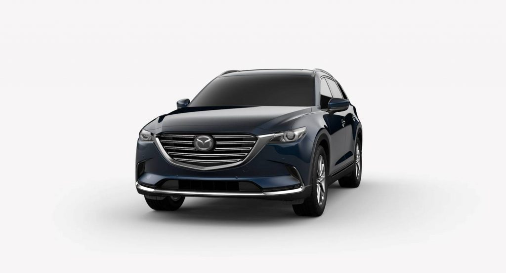 2018 Mazda CX-9 Deep Crystal Blue Mica Exterior on a White Background