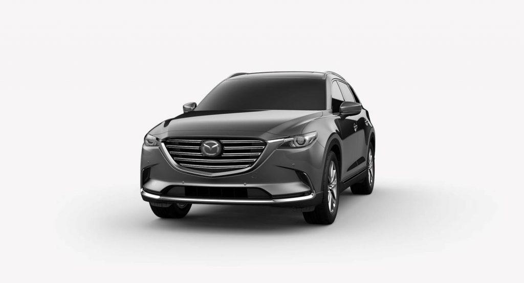 2018 Mazda CX-9 Machine Gray Metallic Exterior on White Background
