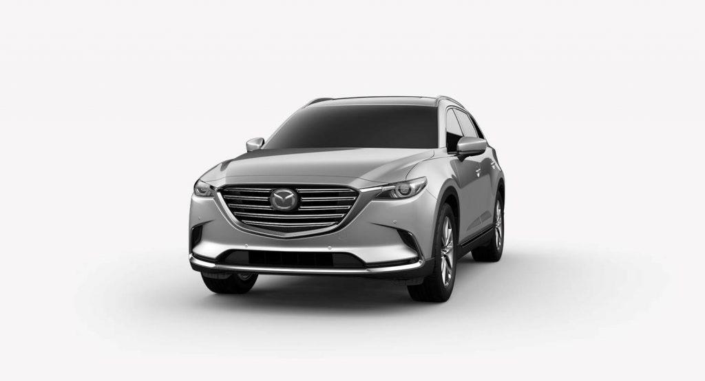 2018 Mazda CX-9 Sonic Silver Metallic Exterior on a White Background