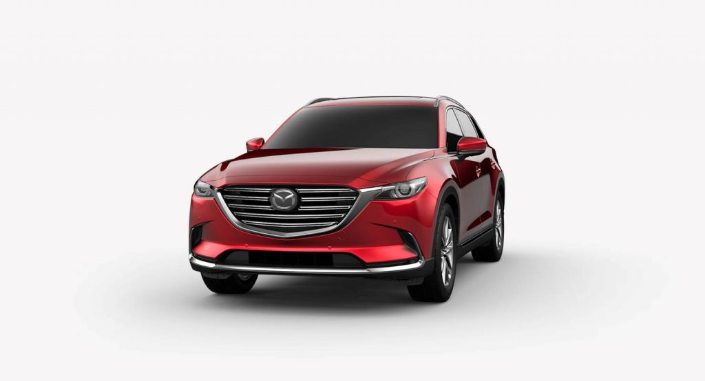 2018 Mazda CX-9 Soul Red Crystal Metallic Exterior on White Background
