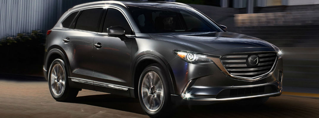 Gray 2018 Mazda CX-9 on a City Street