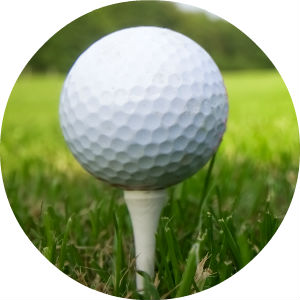 Close Up Picture of a White Golf Ball on a Tee