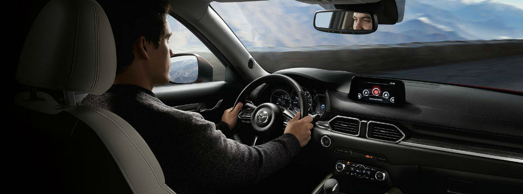 Man Driving 2018 Mazda CX-5 and Using MAZDA CONNECT Bluetooth