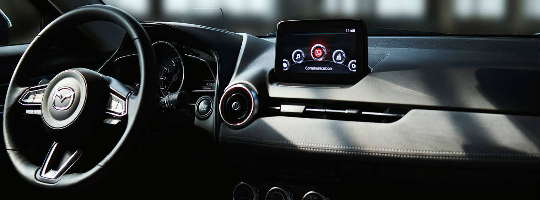 2019 Mazda CX-3 Steering Wheel and MAZDA CONNECT Touchscreen with Phone Icon