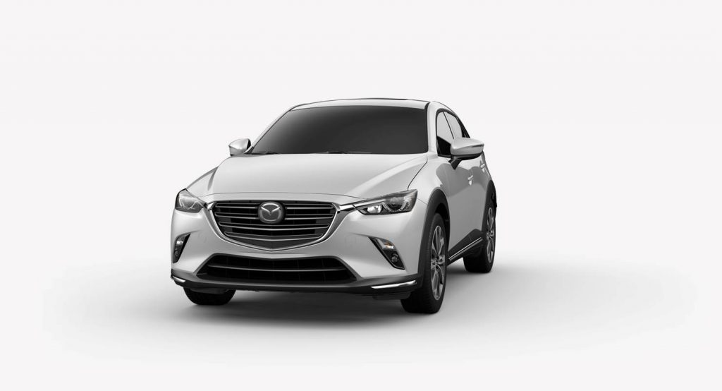 Ceramic Metallic 2019 Mazda CX-3 on White Background