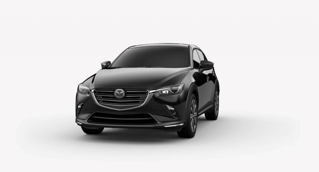 Jet Black Mica 2019 Mazda CX-3 on White Background
