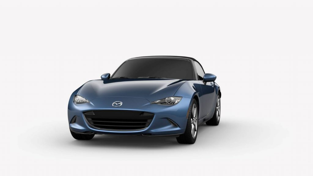 Eternal Blue Mica 2019 Mazda MX-5 Miata Exterior on White Background