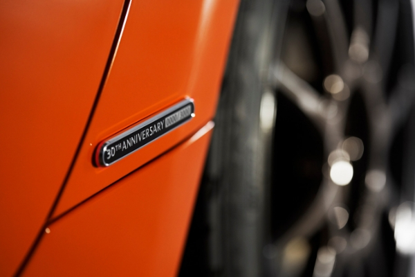 Close Up of 2019 Mazda MX-5 Miata 30th Anniversary Edition Badge