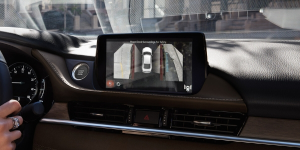 Close Up View of 2019 Mazda6 360 View Monitor on MAZDA CONNECT Display