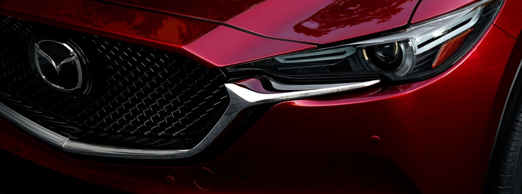 Close Up of Red 2019 Mazda CX-5 Front Grille