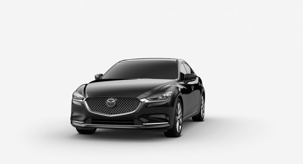 Jet Black Mica 2019 Mazda6 on White Background
