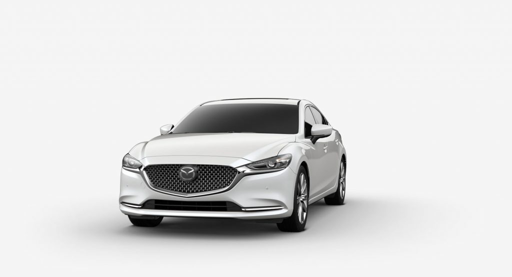Snowflake White Pearl Mica 2019 Mazda6 on White Background
