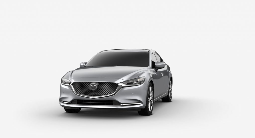 Sonic Silver Metallic 2019 Mazda6 on White Background