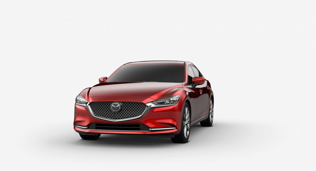 Soul Red Crystal Metallic 2019 Mazda6 on White Background
