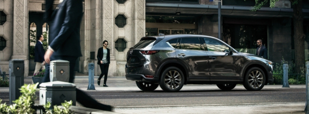 Gray 2019 Mazda CX-5 SKYACTIV-D Diesel on a City Street