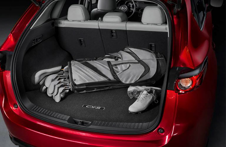 2019 Mazda CX-5 Rear Cargo Space with Golf Clubs