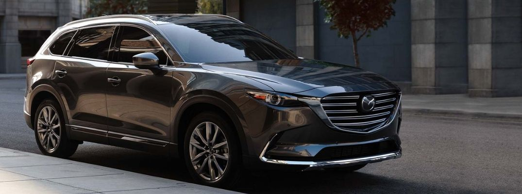 Gray 2019 Mazda CX-9 Parked on City Street