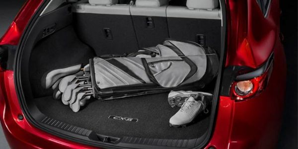 2019 Mazda CX-5 Rear Cargo Space with a Set of Golf Clubs
