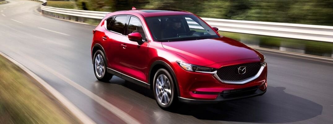 Red 2019 Mazda CX-5 Driving on a Highway