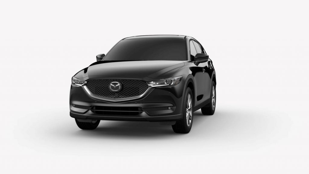 Jet Black Mica 2020 Mazda CX-5 on White Background