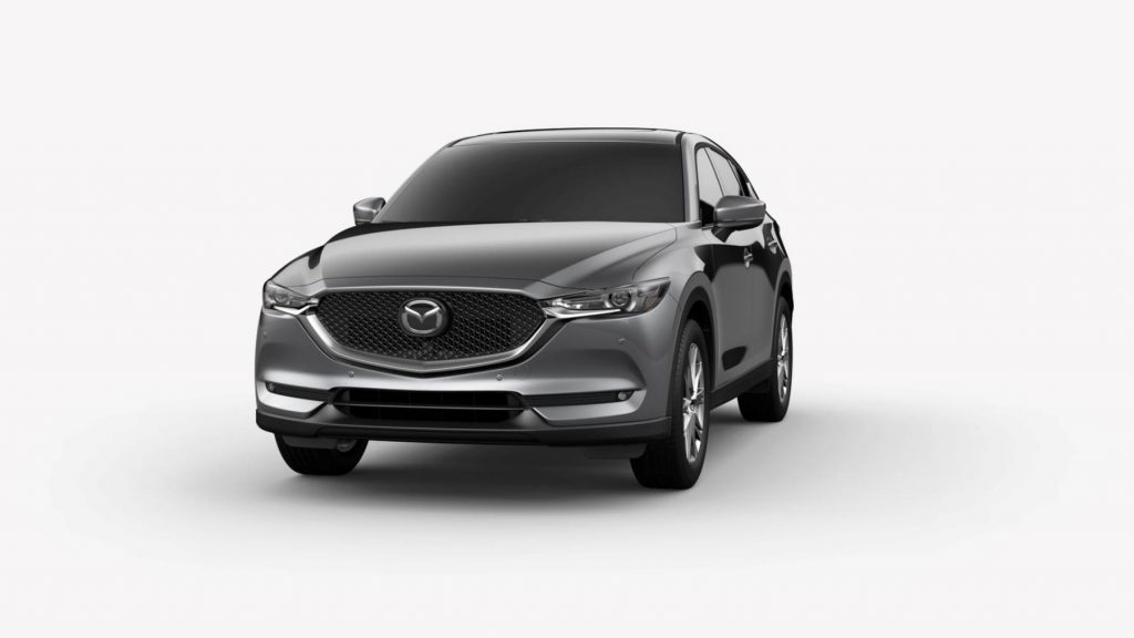 Machine Gray Metallic 2020 Mazda CX-5 on White Background