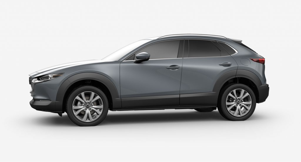Polymetal Gray Metallic 2020 Mazda CX-30 on White Background