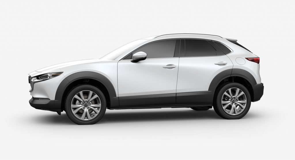 Snowflake White Pearl Mica 2020 Mazda CX-30 on White Background