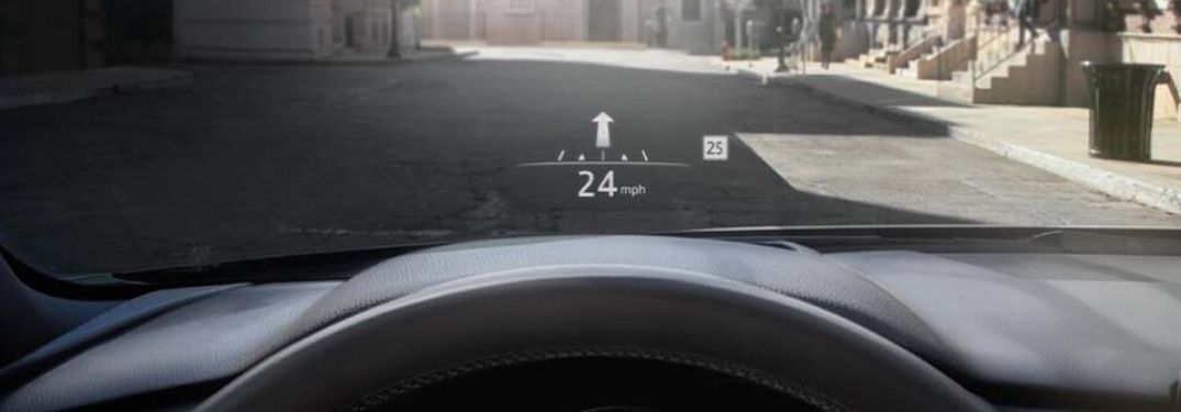Close Up of 2020 Mazda CX-5 Active Driving Display on the Windshield