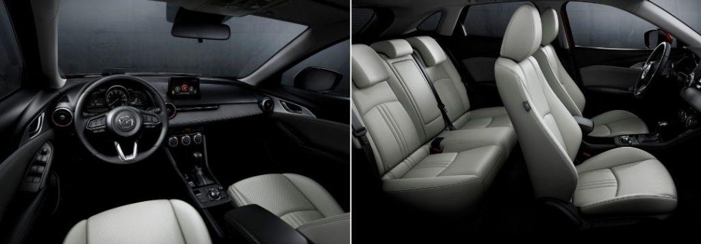 2019 Mazda CX-3 Front Interior vs Cutaway View of 2019 Mazda CX-3 Interior