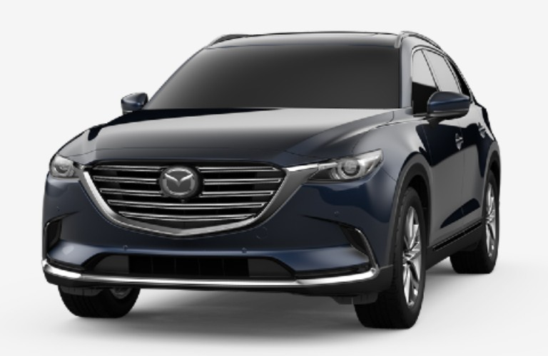 Deep Crystal Blue Mica 2020 Mazda CX-9 on White Background