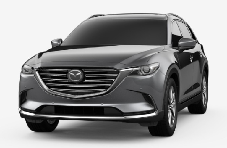 Machine Gray Metallic 2020 Mazda CX-9 on White Background
