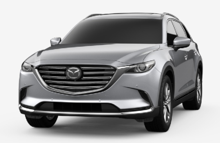 Sonic Silver Metallic 2020 Mazda CX-9 on White Background