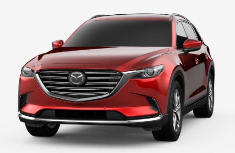 Soul Red Crystal Metallic 2020 Mazda CX-9 on White Background