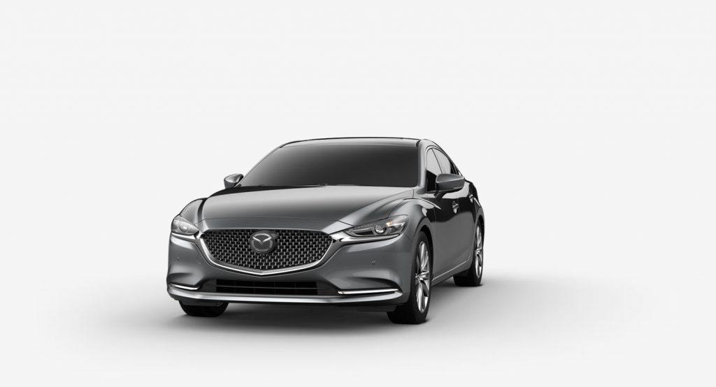 Machine Gray Metallic 2020 Mazda6 on White Background
