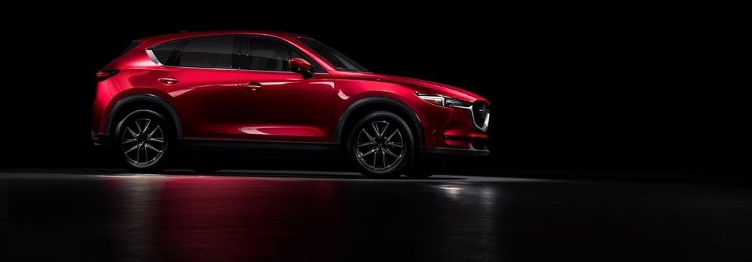 Red Mazda CX-5 Exterior on a Black Background