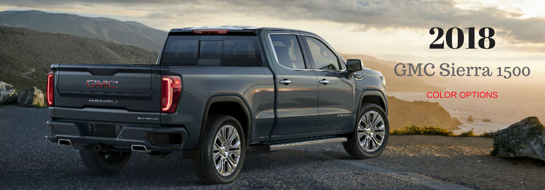 What are the Color Options for the 2018 GMC Sierra 1500?