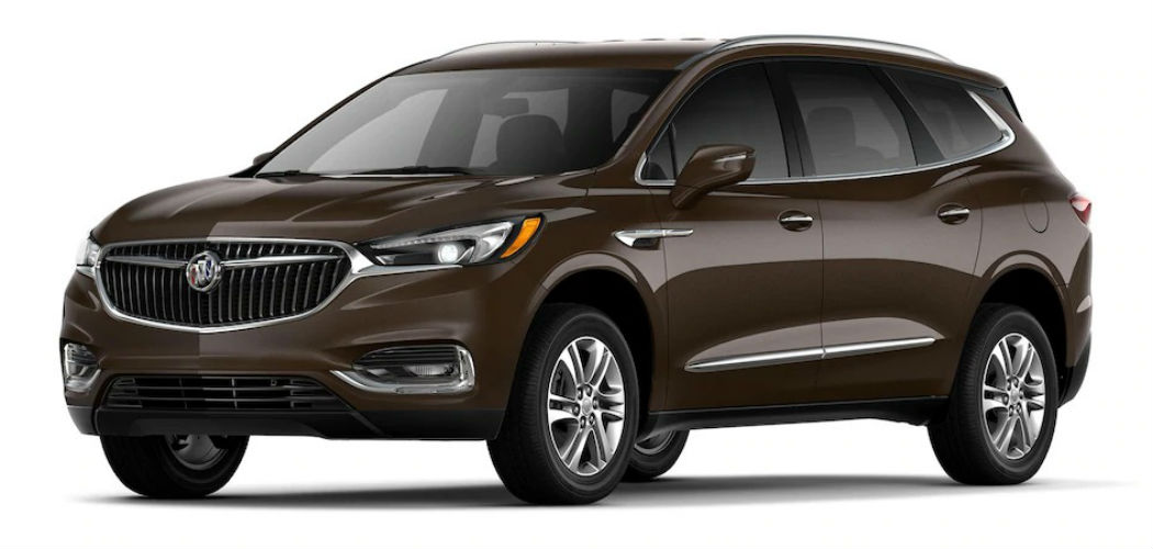 What are the Exterior Color Options for the 2019 Buick Enclave?