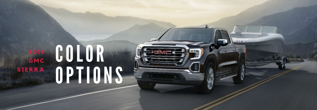 What Are The Exterior Paint Color Options For The 2019 Gmc