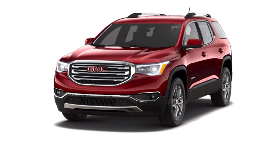 2019 GMC Acadia in red Quartz Tintcoat